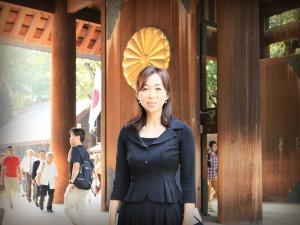 釈量子 靖国神社参拝
